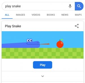 play-snake-game-on-google