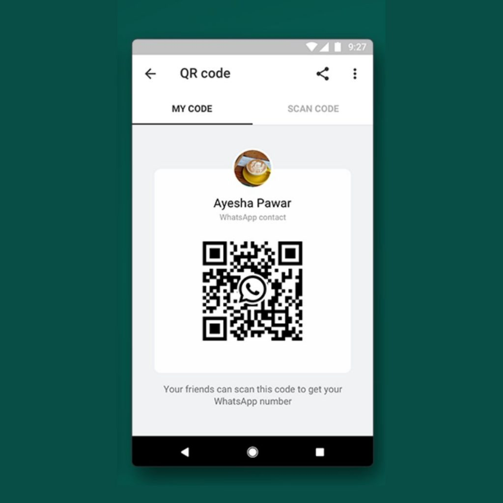 A screenshot of WhatsApp QR Codes