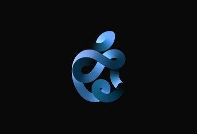 Apple Time Flies Event logo in Dark Background