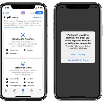Apple IDFA opt-in warning