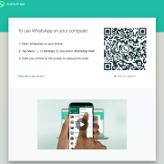 WhatsApp Web log in screen