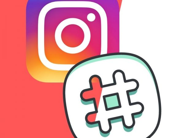 Instagram logo with hashtag