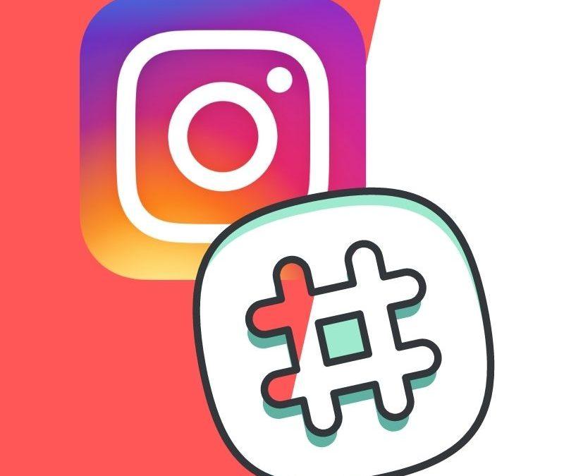 Instagram logo with hashtag