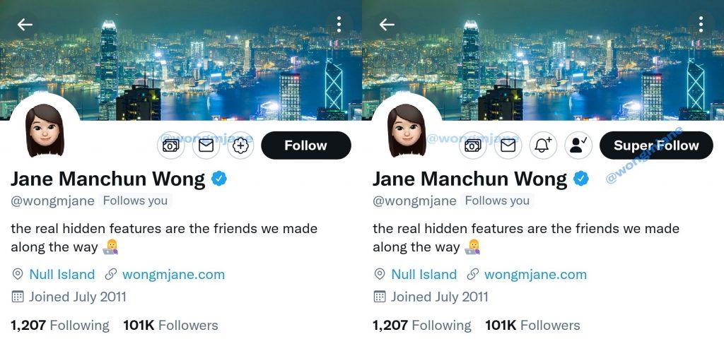 Twitter Super Follow Feature Screenshot